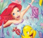 the little mermaid - puzzle sort my tiles ariel